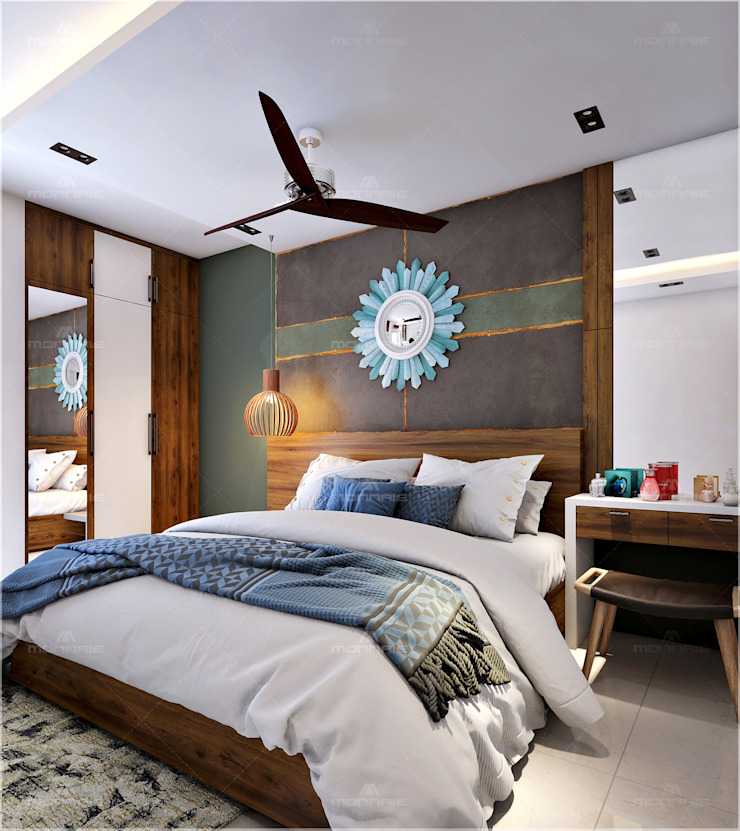Bedroom Designs Monnaie Interiors Pvt Ltd BedroomAccessories & decoration Wood Wood effect
