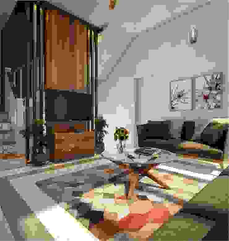 Living room designs Monnaie Interiors Pvt Ltd Living roomAccessories & decoration Wood Wood effect