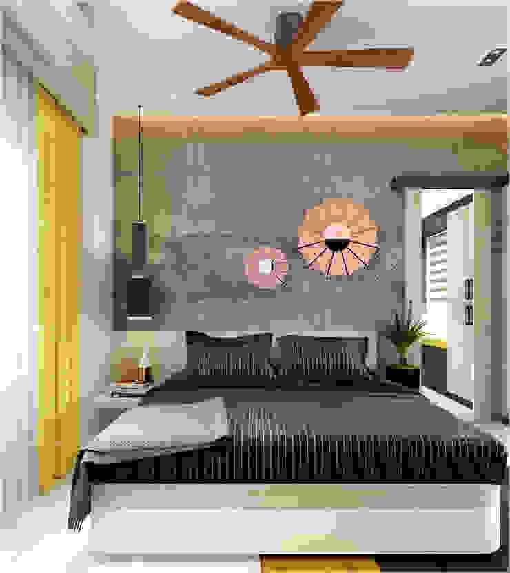 Bedroom design areas Monnaie Interiors Pvt Ltd BedroomBeds & headboards Wood Wood effect
