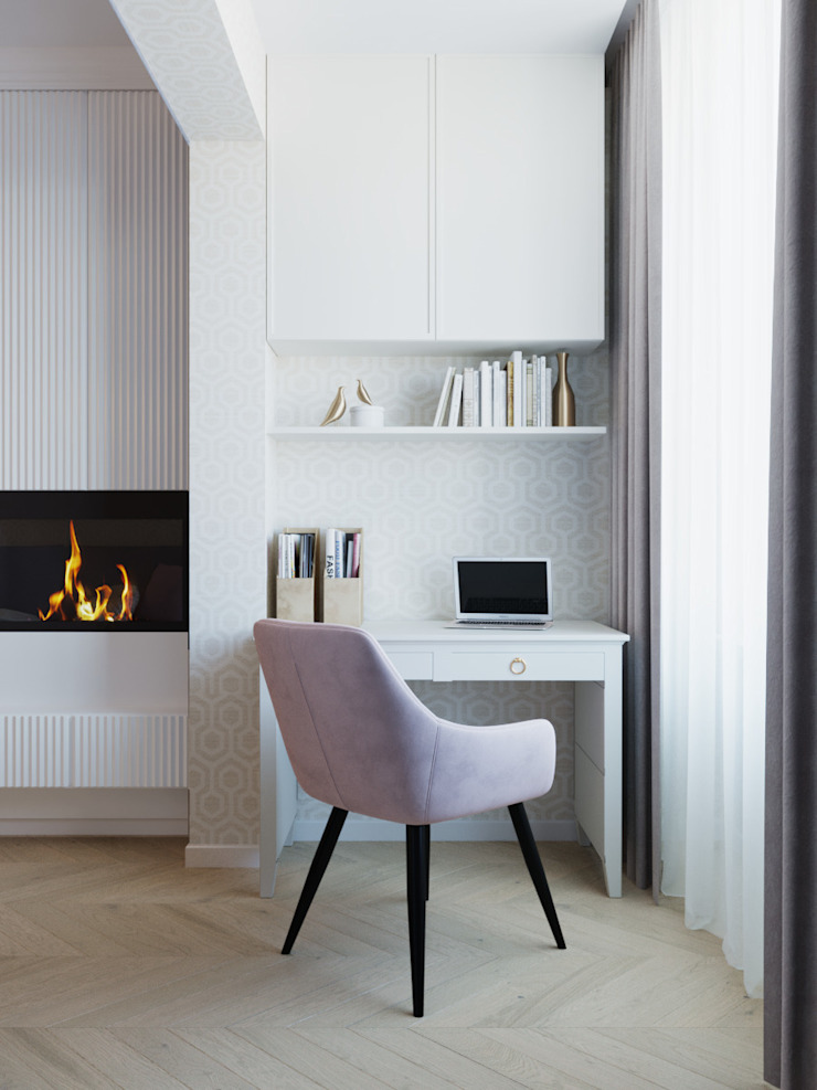 Студия дизайна ROMANIUK DESIGN Scandinavian style study/office