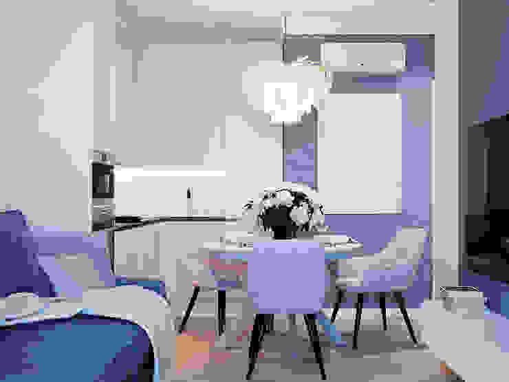 Студия дизайна ROMANIUK DESIGN Scandinavian style dining room