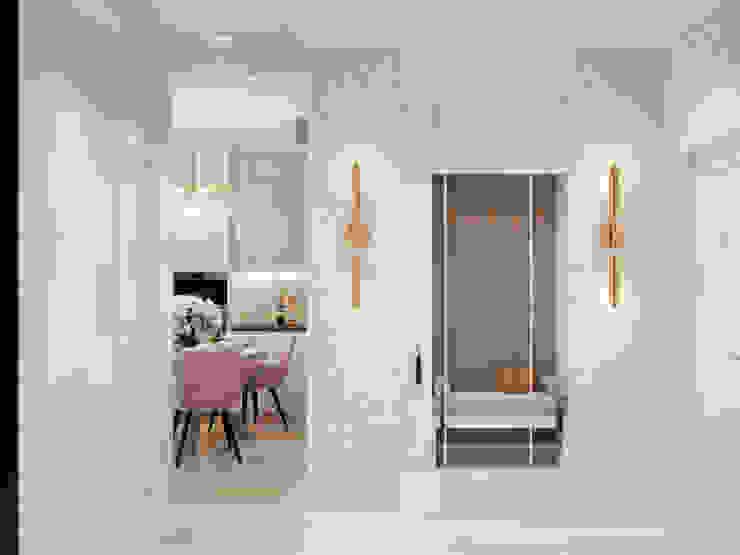 Студия дизайна ROMANIUK DESIGN Scandinavian style corridor, hallway& stairs