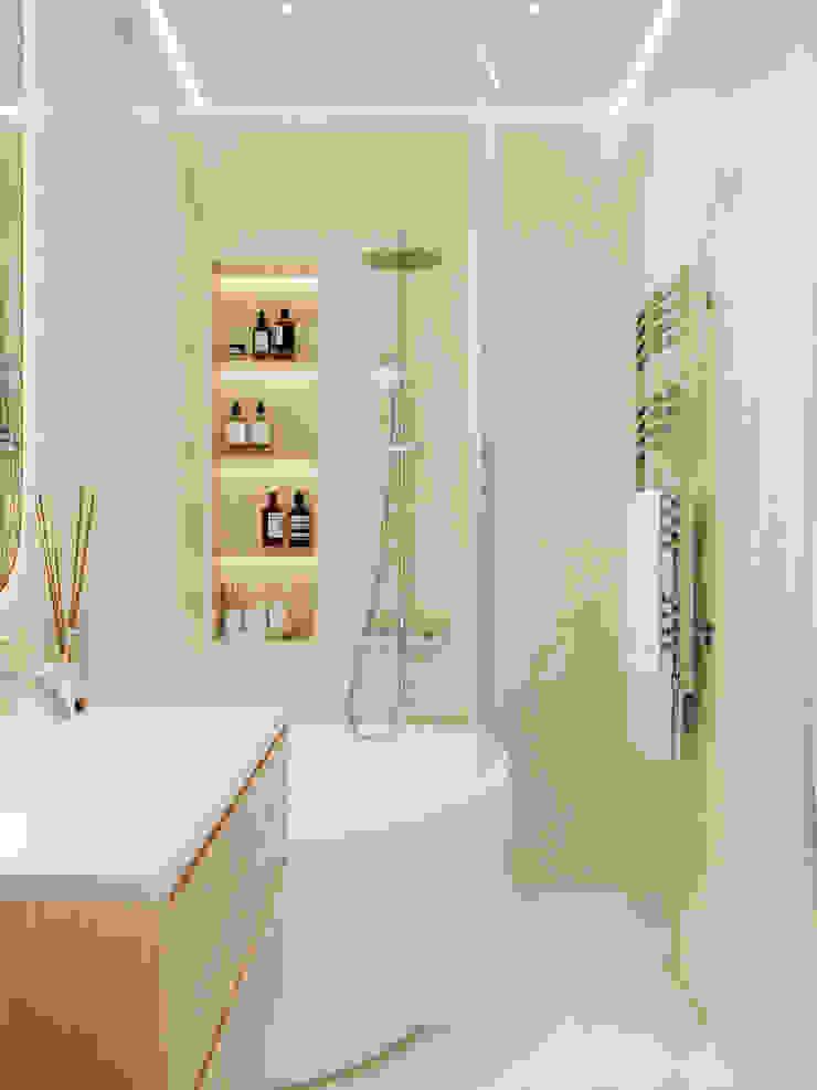 Студия дизайна ROMANIUK DESIGN Minimalist style bathroom
