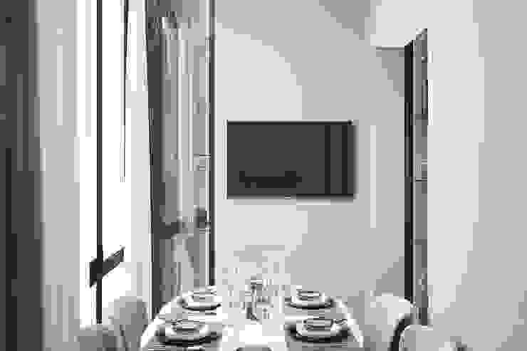 Студия дизайна ROMANIUK DESIGN Minimalist dining room