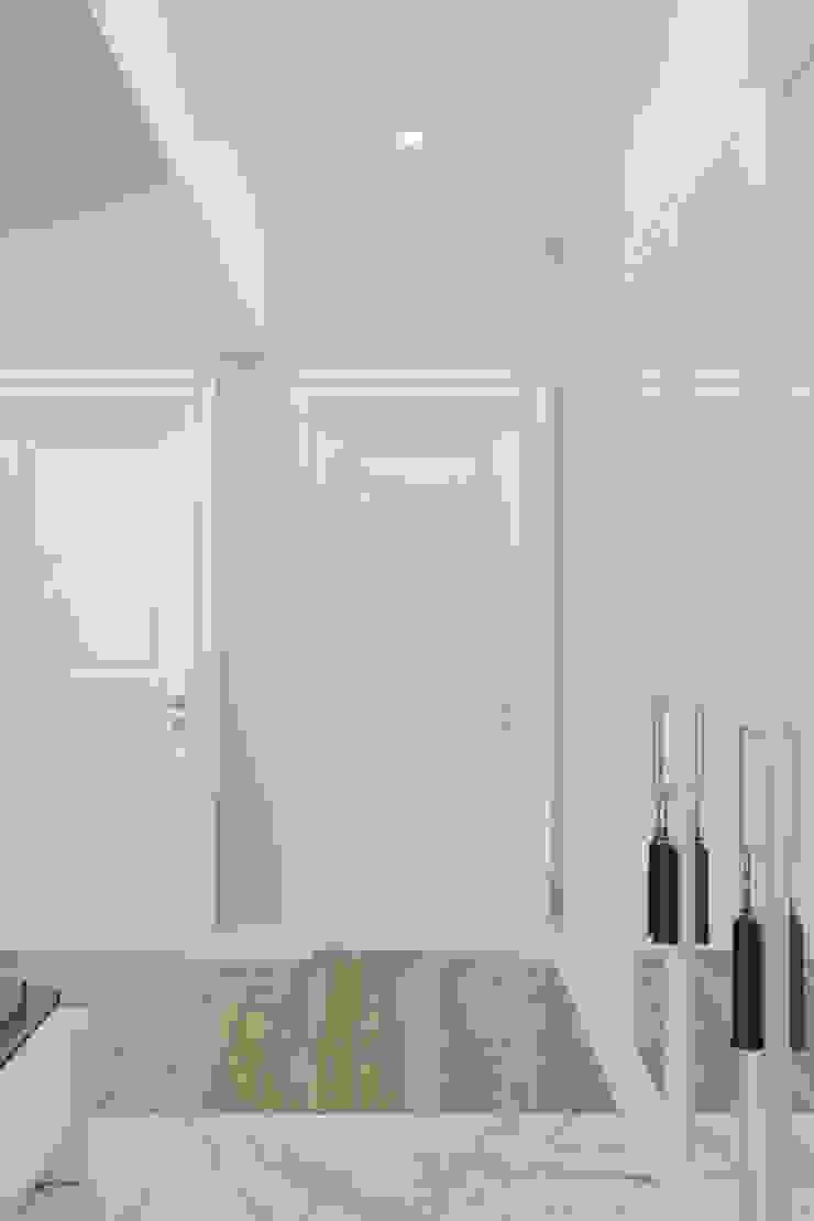 Студия дизайна ROMANIUK DESIGN Minimalist corridor, hallway & stairs