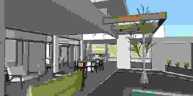 Design moderno de quintal Carmela Design Piscinas de jardim
