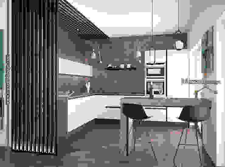 Cucina con isola Mezzettidesign Cucina attrezzata Legno Bianco