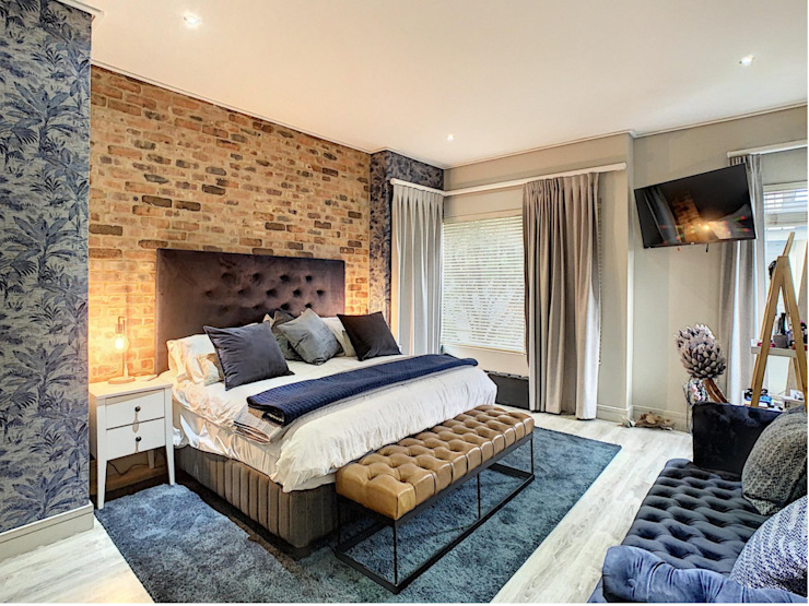 Young Couples Home Renovation, Pretoria CS DESIGN Eclectic style bedroom