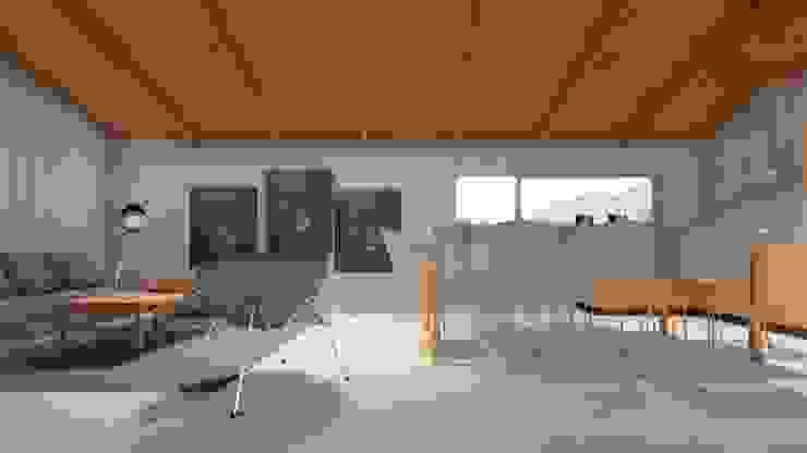 Vivienda Puerto Montt J-O Roberto Martinez Bravari -arquitectos asociados Comedores de estilo rural Madera Acabado en madera