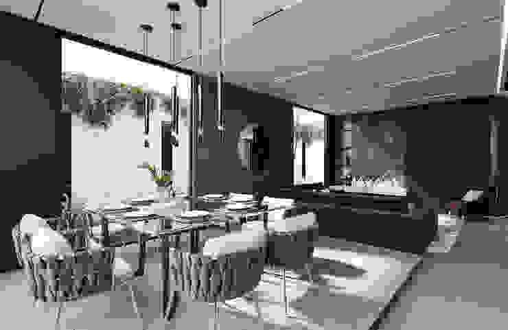 Rebora Arquitectos Ruang Makan Modern Keramik Black