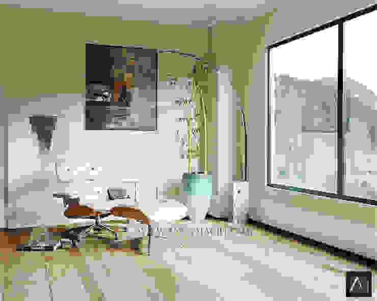 Sala de Inverno Anny Maciel Interiores - Casa Cor de Riso CasaAcessórios e Decoração Madeira Bege