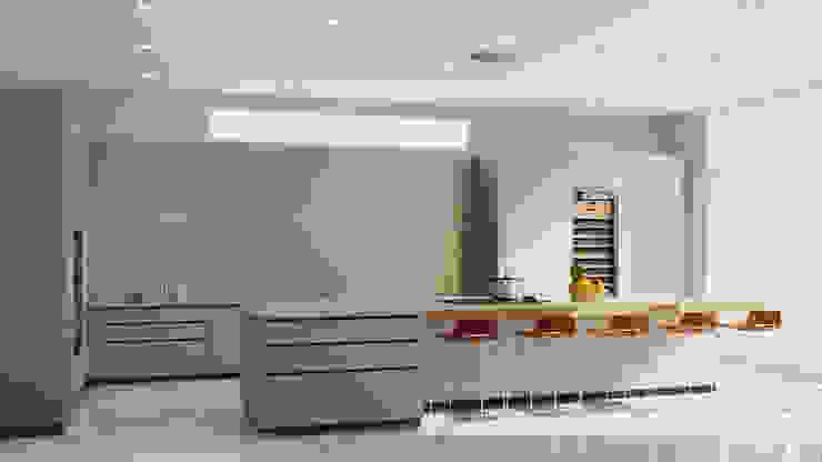 JMSD Consultant - 3D Architectural Visualization Studio CuisineAccessoires & Textiles Bois massif Gris