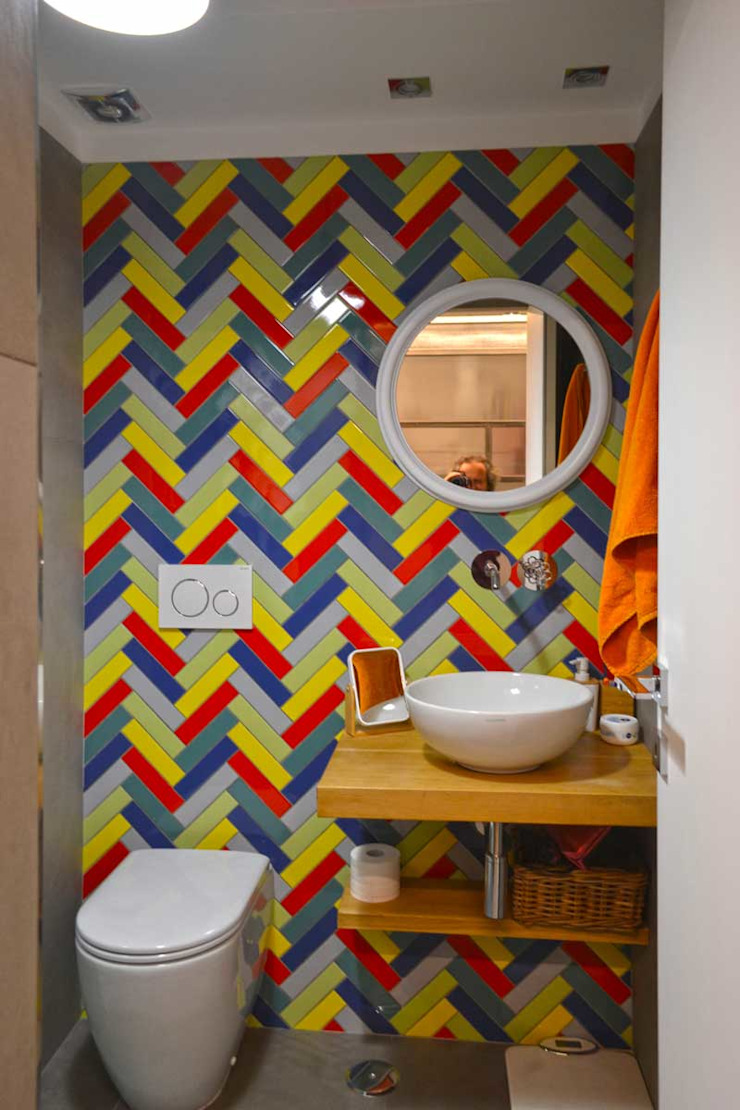 arch. Paolo Pambianchi Eclectic style bathroom