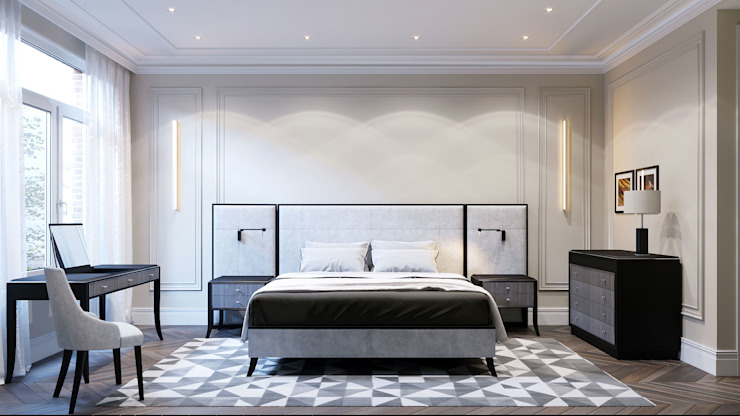 RELIEF BED with side panels ITALIANELEMENTS BedroomBeds & headboards