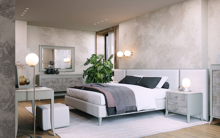 RBED.100 Bed with side panels ITALIANELEMENTS BedroomBeds & headboards Wood