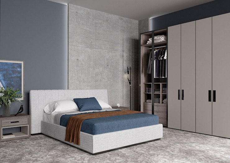 MARCELLO BED ITALIANELEMENTS BedroomBeds & headboards