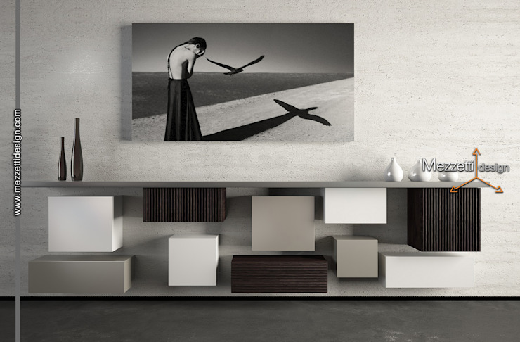 Mezzettidesign Living roomStorage Wood Grey
