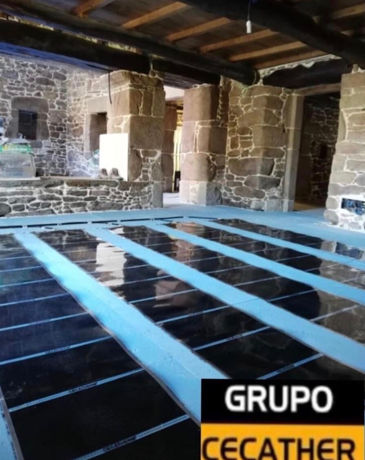 GRUPO CECATHER   FOLIO RADIANTE - SUELO RADIANTE Lantai Batu Black