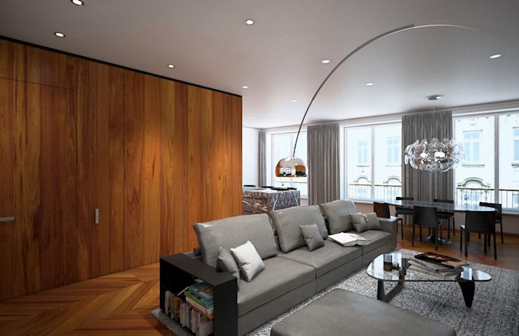 Arch+ Studio Modern living room