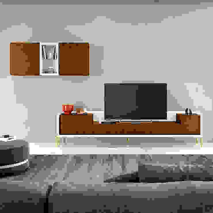 Farimovel Furniture ห้องนั่งเล่นชั้นวางทีวีและตู้วางทีวี