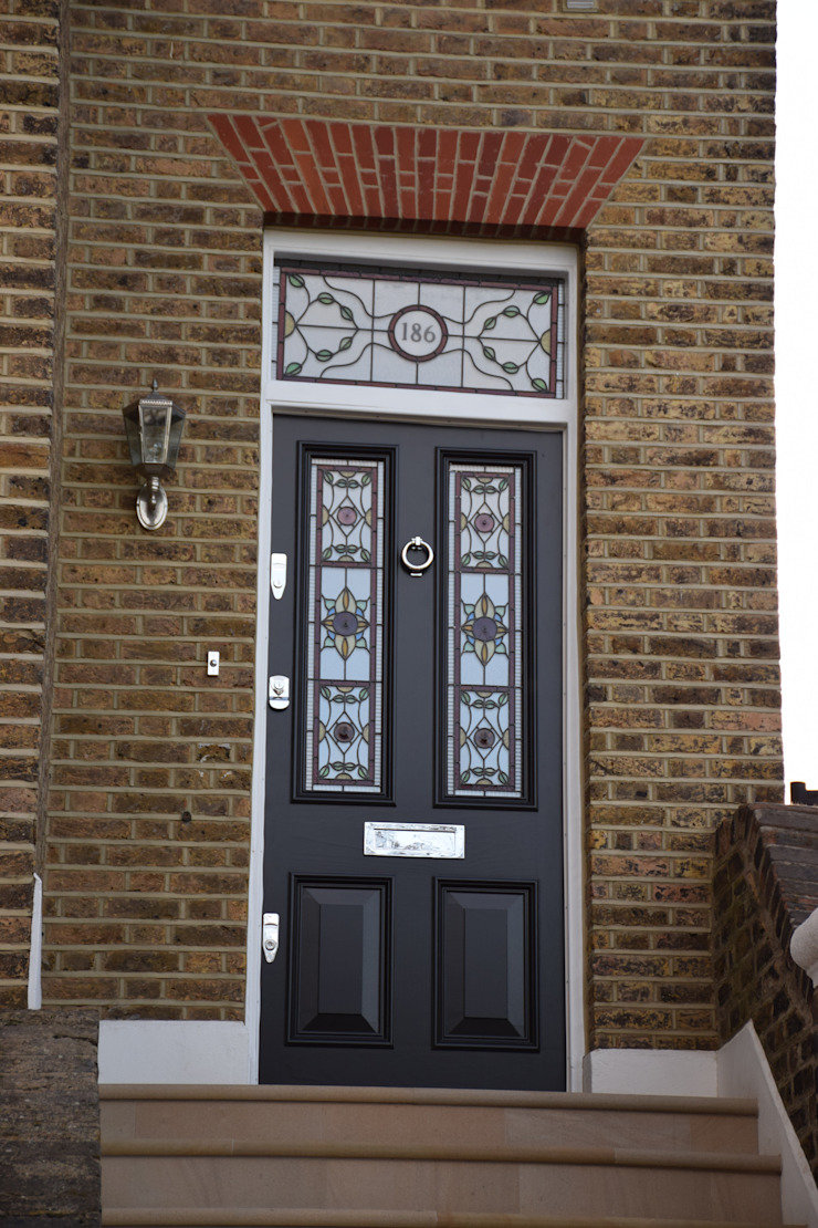 Entrance door Repair A Sash Ltd Puertas principales Madera Negro