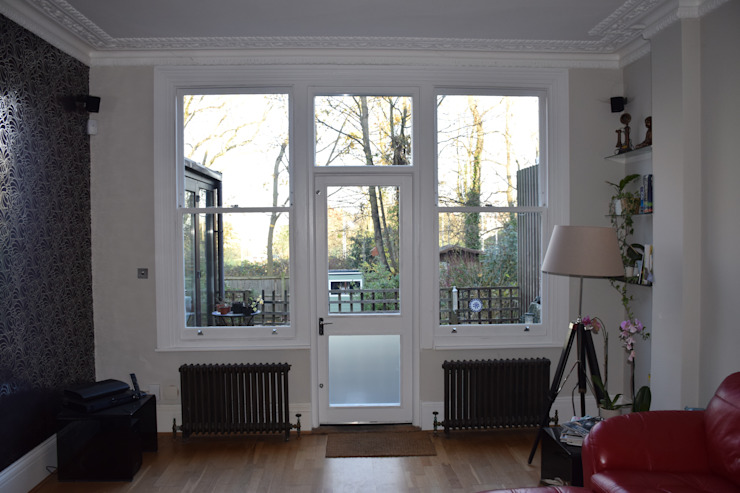 Bespoke sash windows & balcony door Repair A Sash Ltd Ventanas de madera Madera Blanco