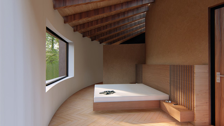 Habitación CONCEPTUAL ESTUDIO + ARQUITECTURA SAS Habitaciones de estilo rústico