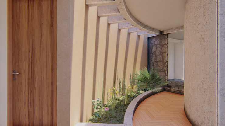 Pasillos CONCEPTUAL ESTUDIO + ARQUITECTURA SAS Pasillos, vestíbulos y escaleras de estilo moderno