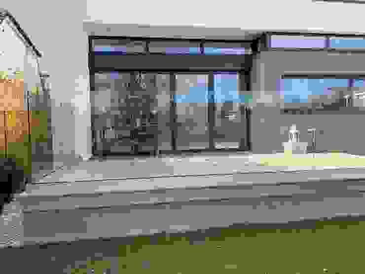 Frameless Glass Balustrade Origin Architectural Halaman depan Kaca Transparent