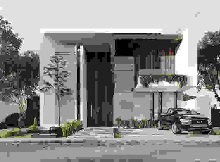 10 Residencias en preventa en el fraccionamiento Bugambilias, Zapopan, Jalisco, México. Rebora Arquitectos Casas modernas Concreto Blanco