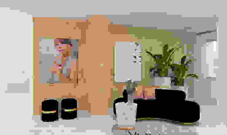Projeto Hall de Entrada ByOriginal Corredores, halls e escadas minimalistas