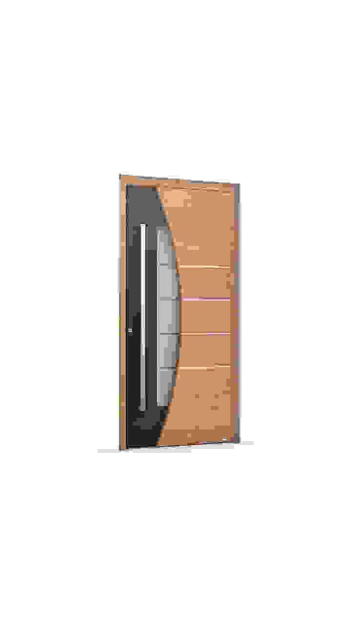 RK Exclusive Doors 前門 鋁箔/鋅 Wood effect