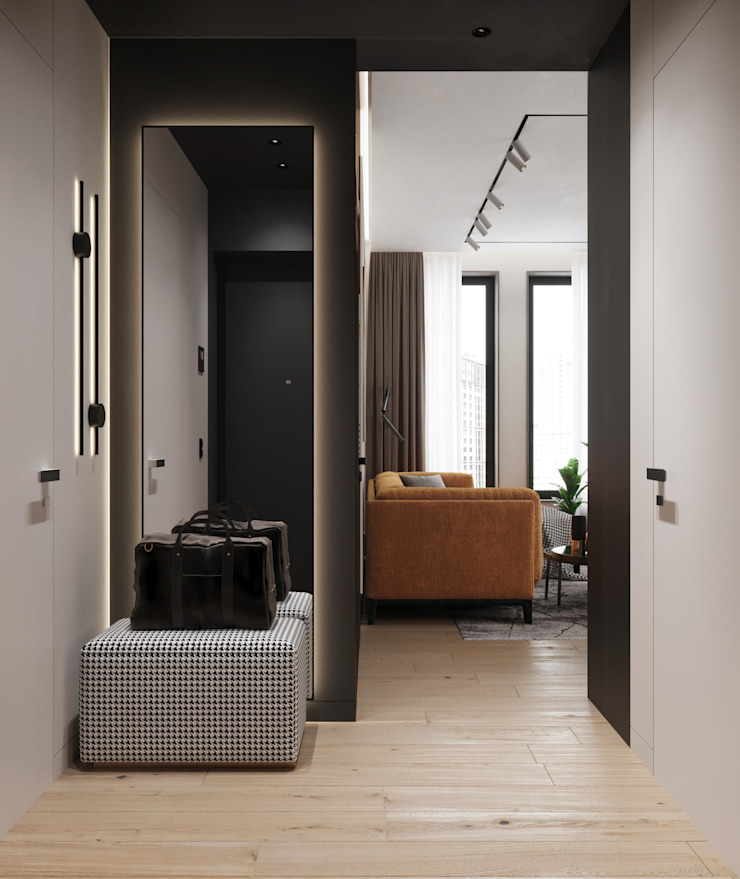 Rubleva Design Classic style corridor, hallway and stairs