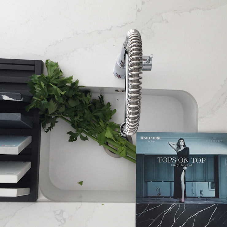 Cubas em Silestone DIONI Home Design CozinhaPias e torneiras