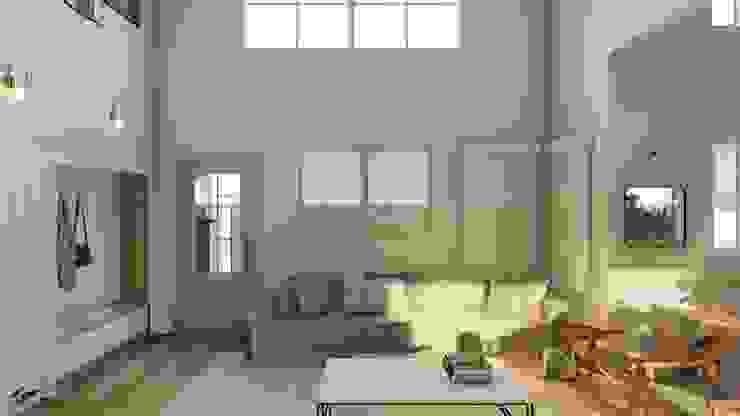 Nesta Espaços Extraordinários Country style living room