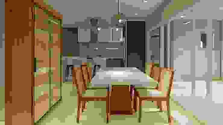 Nesta Espaços Extraordinários Modern dining room