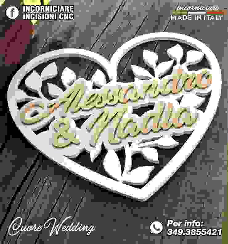 CUORE WEDDING IN LEGNO FIOCCO INCORNICIARE CasaAccessori & Decorazioni