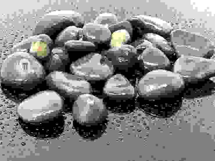 Canto rodado negro mojado Canteras el Cerro JardinesDecoración y accesorios Mármol Negro