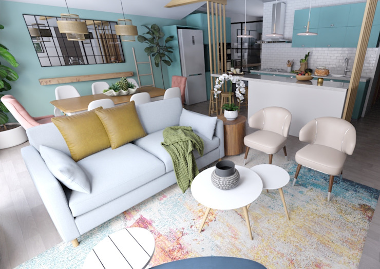 Living - Proyecto Vallenar Gabi's Home Livings de estilo clásico Beige