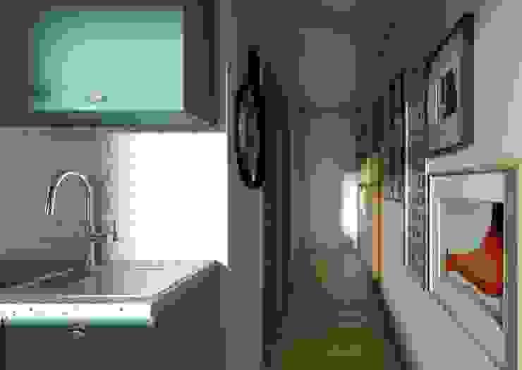Pasillo - Proyecto Vallenar Gabi's Home Paredes y pisos de estilo clásico Blanco