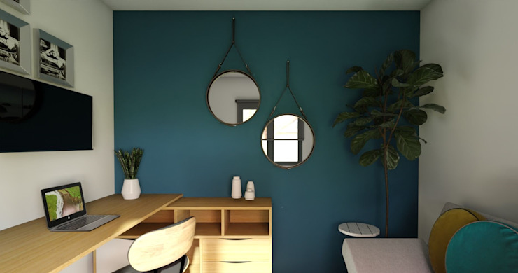 Oficina - Proyecto Vallenar Gabi's Home Dormitorios pequeños Azul