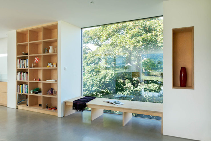 Window Bench Brown & Brown Architects Modern living room
