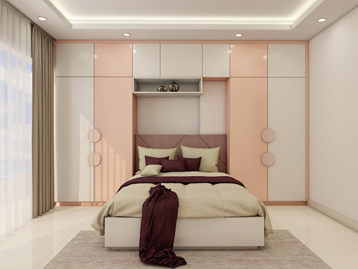 Kids Room with murphy bed and side tall wardrobes Lakkad Works Teen bedroom