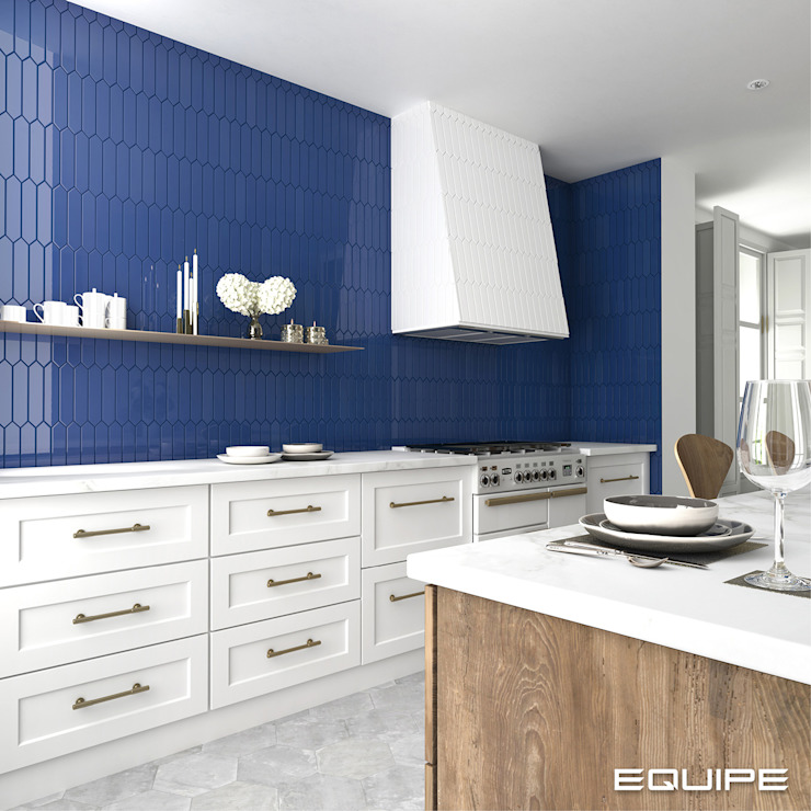 Equipe Ceramicas Kitchen Tiles Blue