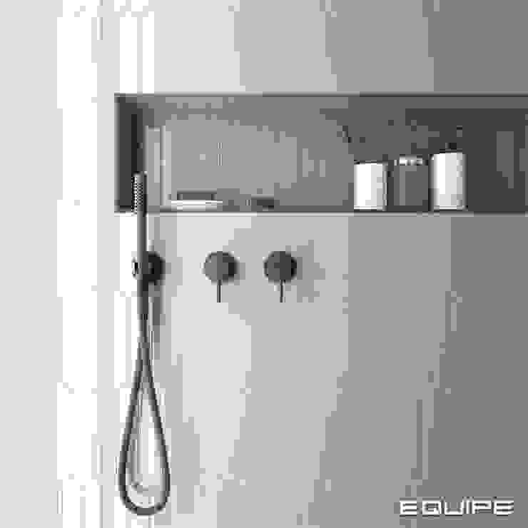 Equipe Ceramicas Minimalist style bathroom Tiles Grey