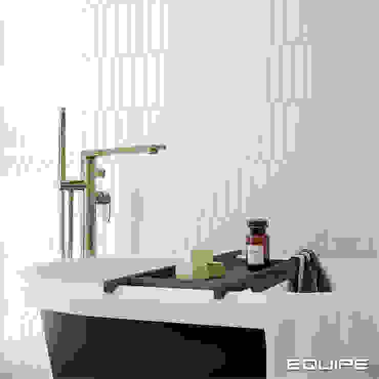 Equipe Ceramicas Mediterranean style bathrooms Tiles White