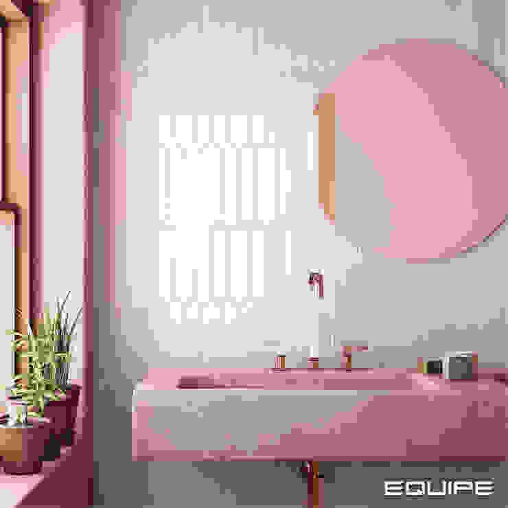 Equipe Ceramicas Mediterranean style bathrooms Tiles Pink