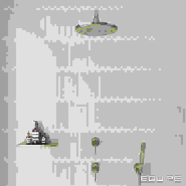 Equipe Ceramicas Minimalist style bathroom Tiles Beige