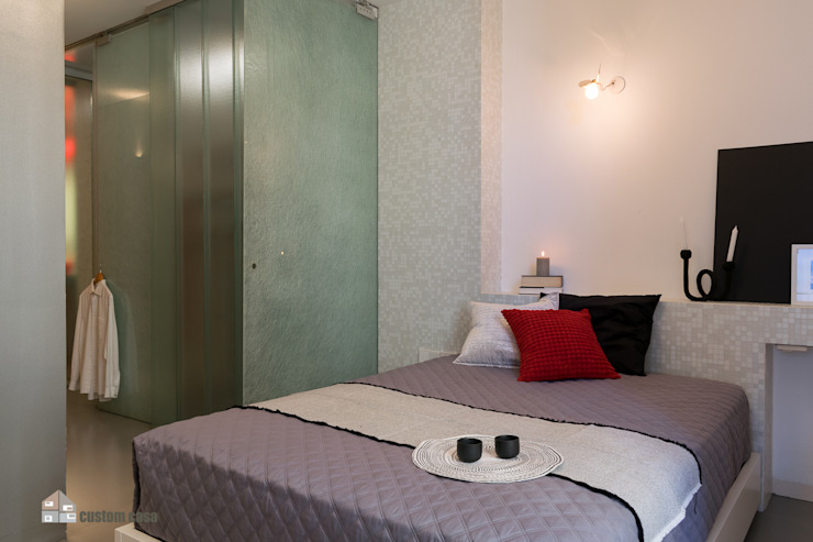 custom casa home staging Industrial style bedroom