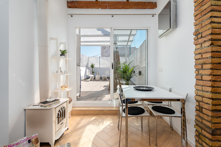 custom casa home staging Mediterranean style dining room